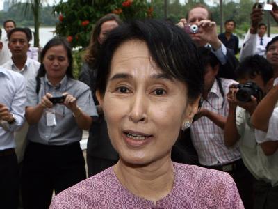 Dissidentin Aung San Suu Kyi erhielt 1991 den Friedensnobelpreis. (Archivfoto)