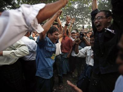 Der Hausarrest von Aung San Suu Kyi wurde nach siebeneinhalb Jahren aufgehoben.