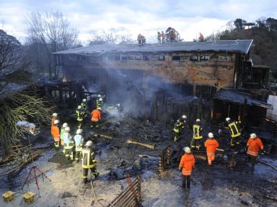 Das Feuer griff vom Streichelzoo auf das Elefantenhaus über.