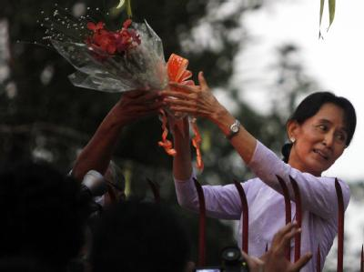 Friedensnobelpreistr�gerin Suu Kyi frei