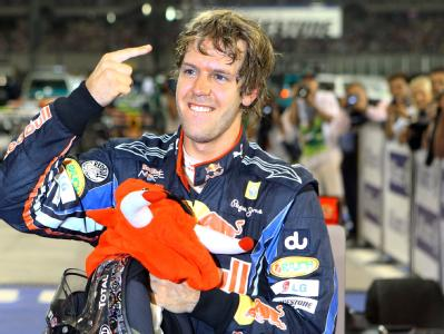 Sebastian Vettel vom Team Red Bull nach dem Rennen.