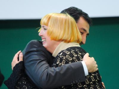 Wiedergewählt: Claudia Roth und Cem Özdemir.
