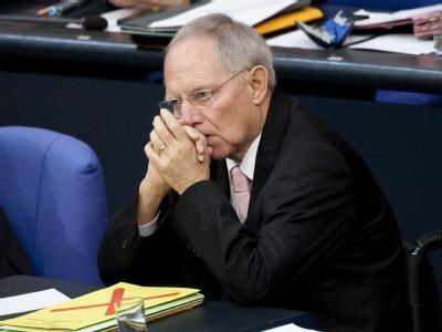 Bundesfinanzminister Wolfgang Schäuble während der Haushaltsdebatte im Bundestag.