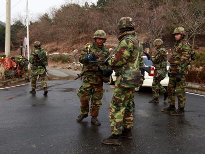 Nordkoreanische Truppen hatten am vergangenen Dienstag die Insel Yonpyong mit Granaten beschossen.