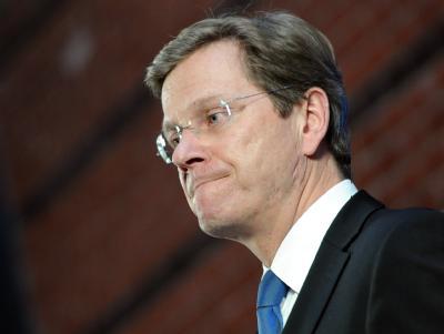 Außenminister und Vizekanzler Guido Westerwelle bei einer Pressekonferenz in Berlin.