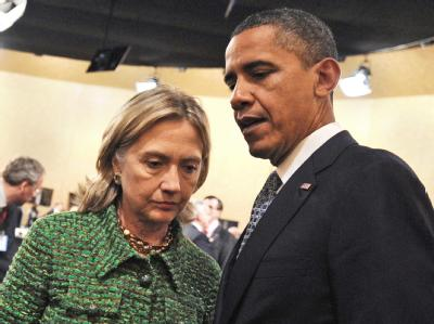 US-Außenministerin Clinton und US-Präsident Obama am 19.November in Lissabon.