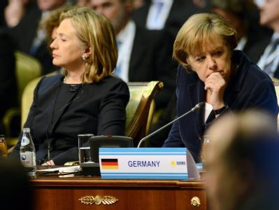 Hillary Clinton und Angela Merkel