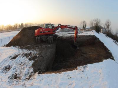 Frost beeinträchtigt BUGA-Bauarbeiten