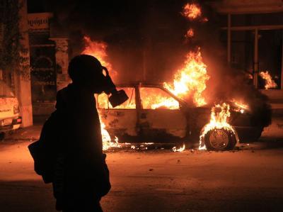 Schwere Krawalle in Athen: Anlass war der zweite Jahrestag der tödlichen Polizei-Schüsse auf einen 15-Jährigen.