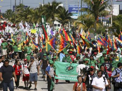 Demonstration in Cancún