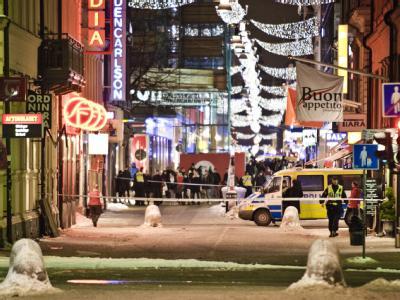 Die Innenstadt von Stockholm nach den Anschlägen.