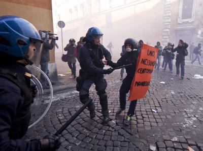 Krawalle in Rom