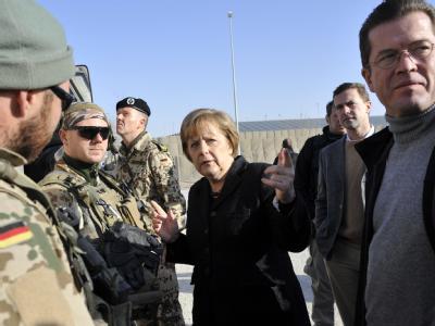 Kanzlerin Merkel besucht Afghanistan