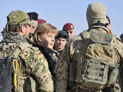 Kanzlerin Merkel in Kundus