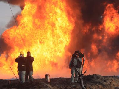 Explosion einer Pipeline