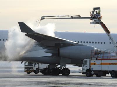 Winter auf dem Stuttgarter Flughafen