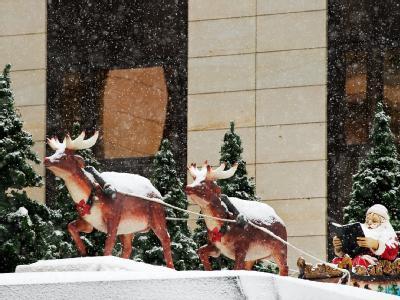 Schnee an Heiligabend? Die Meteorologen sind zuversichtlich.