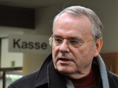 Ludwig-Holger Pfahls im Februar im Landgericht Augsburg.