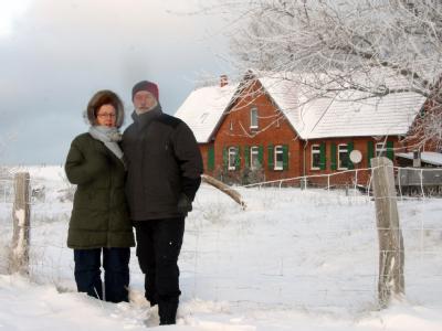 Paar �berwintert auf kleiner Ostseeinsel
