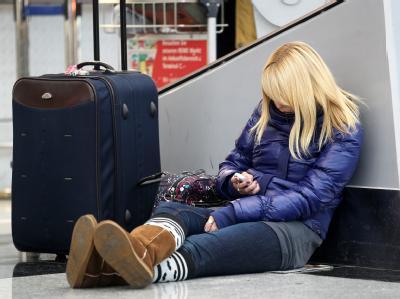 Warten auf dem Flughafen Düsseldorf