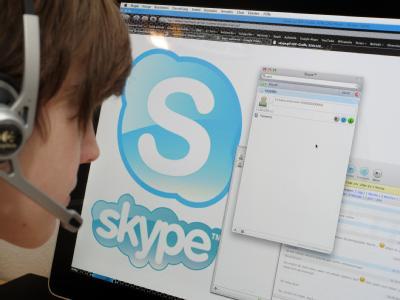 Skype-Nutzerin