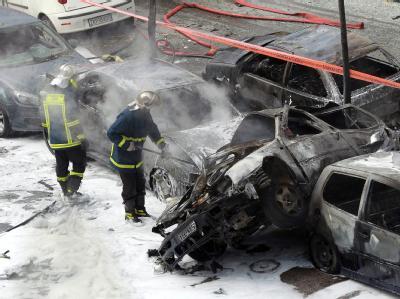 Ausgebrannter Wagen