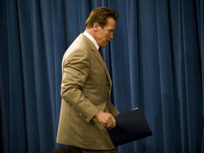 Arnold Schwarzenegger tritt von der politischen Bühne ab - mit schlechten Noten für seine Arbeit.