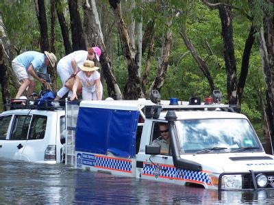 Rettung auf dem Krokodil-Fluss