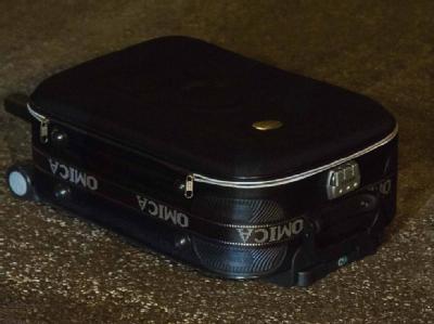 In diesem Koffer war der nur einen Tag alte Säugling ausgesetzt worden.