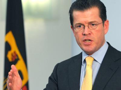 Bundesverteidigungsminister Karl-Theodor zu Guttenberg (CSU).