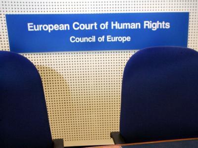 Gerichtssaal im Europäischen Gericht für Menschenrechte in Straßburg.