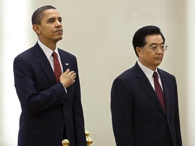 US-Präsident Barack Obama (L) zusammen mit Chinas Staatschef Hu Jintao. (Archivbild)