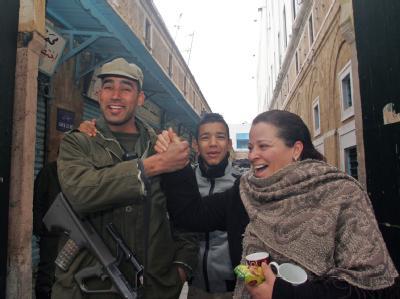 Stra�enszene in Tunis