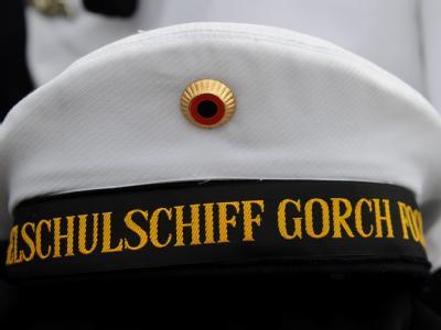 Die Mütze eines Besatzungsmitgliedes der Gorch Fock.