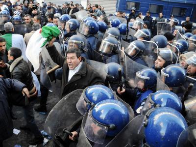 Die politischen Unruhen haben auch auf Algerien übergegriffen (Foto vom 22.1.2011).
