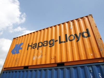 Ein Container der Reederei Hapag-Lloyd.