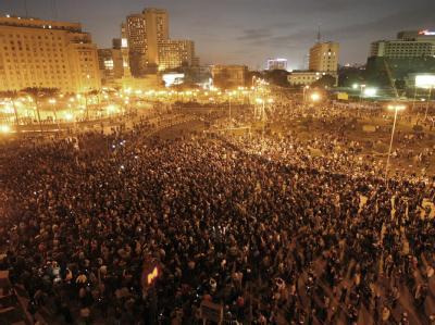 N�chtliche Proteste in Kairo
