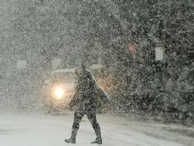 Weiße Pracht: Die Schneefront ist innerhalb weniger Wochen schon die sechste, die die Ostküste heimsucht.