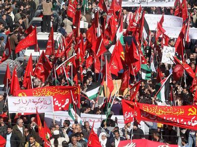 Demonstration in Jordanien