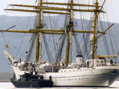 Die Ermittler gehen an Bord der vor Ushuaia liegenden «Gorch Fock».