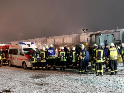 Die Wucht des Aufpralls ließ den Zug aus den Schienen springen.