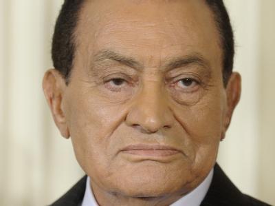 Der ägyptische Präsident Husni Mubarak. (Archivbild)