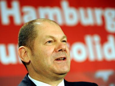 SPD-Spitzenkandidat Olaf Scholz sieht bei der Bürgerschaftswahl in Hamburg einem klaren Erfolg entgegen.