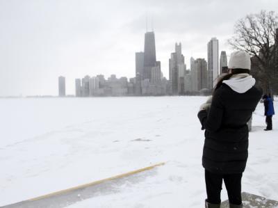 Eingeschneites Chicago