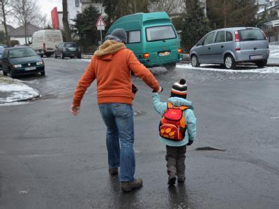 Rutschpartie für Vater und Sohn in Kassel