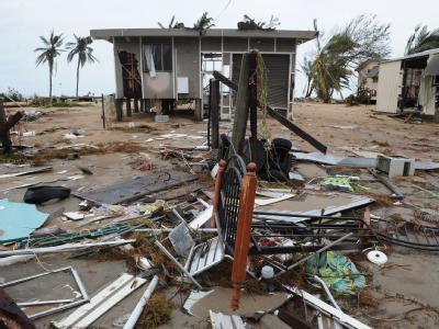 Nach dem Durchzug von Zyklon 'Yasi'