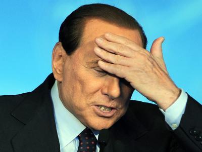 Der italienische Ministerpräsident Silvio Berlusconi im Oktober 2010 auf einem Parteitag in Mailand.