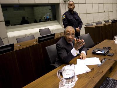 Liberias Ex-Präsident Charles Taylor vor dem Sondertribunal: Das Schlussplädoyer der Verteidigung steht noch aus.