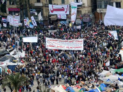 Tausende Demonstranten kamen wieder auf den Tahrir-Platz in Kairo.