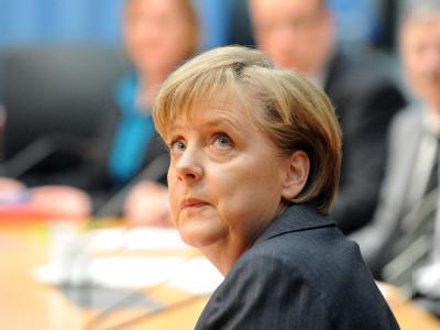 Bundeskanzlerin Angela Merkel (CDU) beim Kundus-Untersuchungsausschuss des Bundestages.